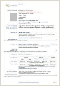 Contoh Cv format Europass Cv Resume Resume Cv Deutsch