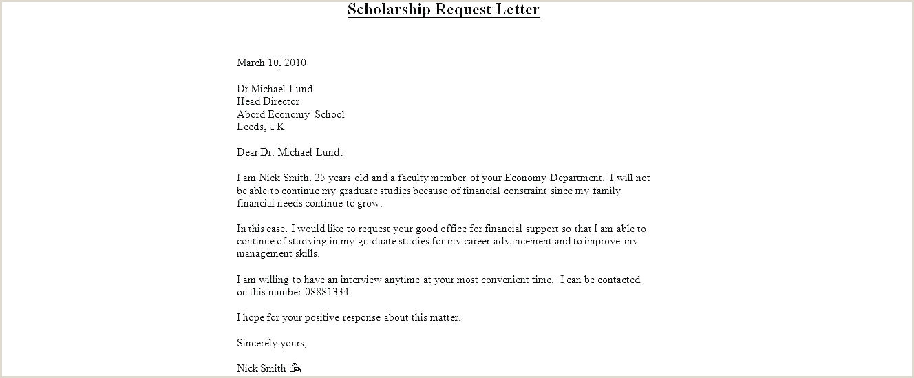 Scholarship Cover Letter Examples Resume Sample Scholarship