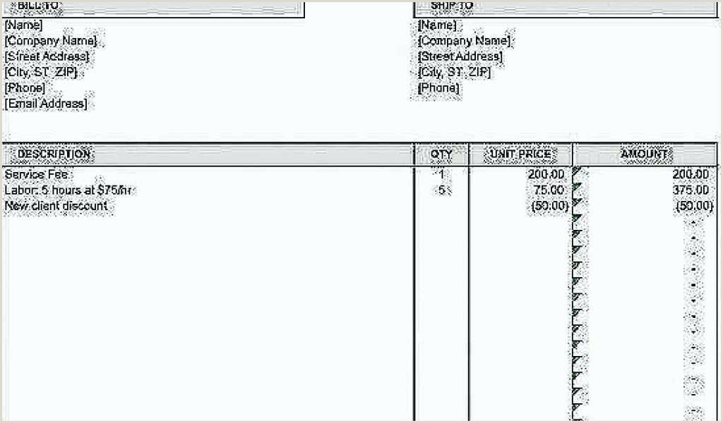 Contractor Bill Template Labor Invoices Templates