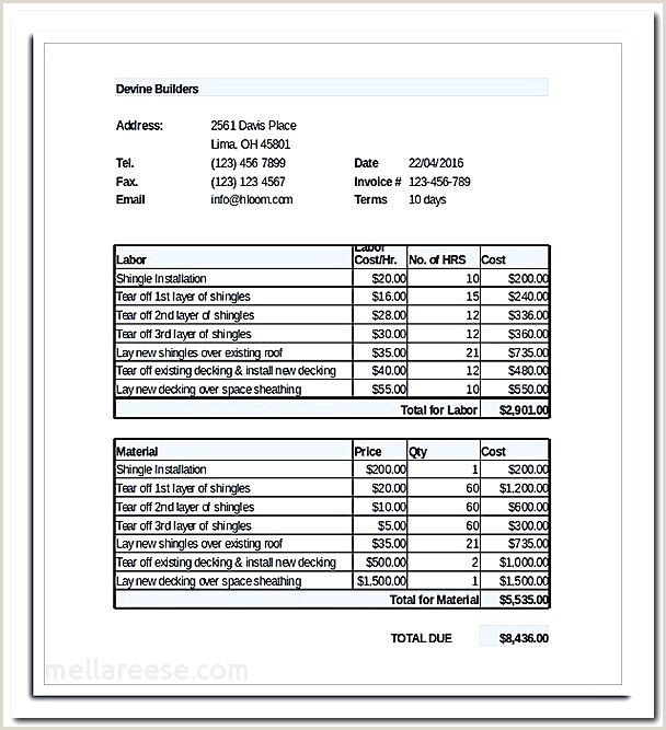 Contractor Invoice Book Email Quotes Unique Quote Templates Free Contractor Quotes