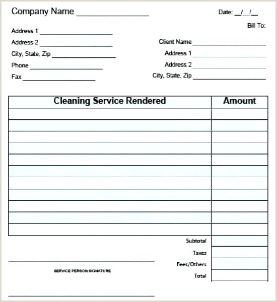 Contractor Invoice Book Window Cleaning Invoice Laundry Receipt Book Dry Template