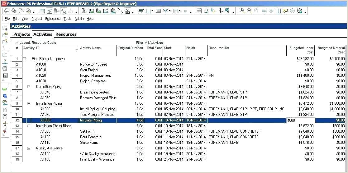 Contractor Schedule Of Values Template Excel Construction Timeline Template format Free Schedule