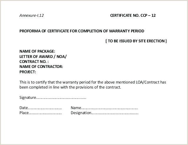 Guarantee Certificate Template Elegant Warranty Agreement