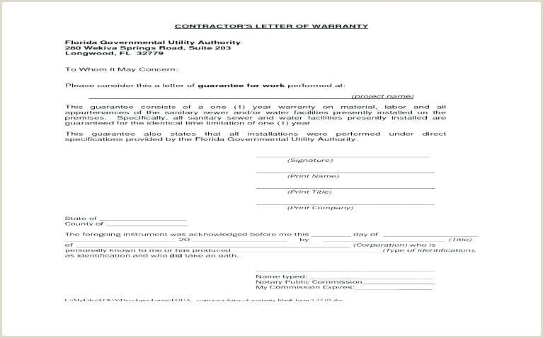 Contractor Warranty Letter Warranty Guarantee Template Roofing Contractor Payment
