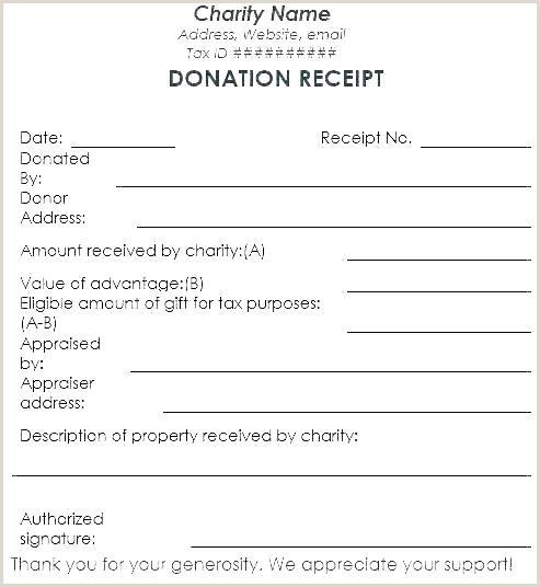 Contribution Form Template Charitable Donation Receipt