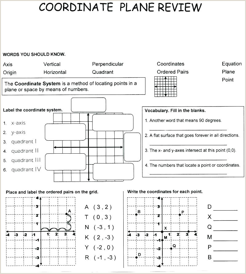 Coordinate Plane Quadrant 1 Worksheet Coordinate Plane Mystery Picture Worksheets Free