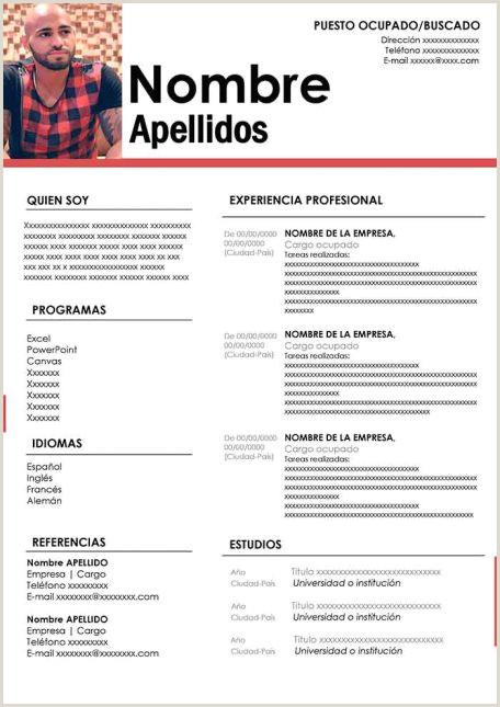 Copia De Curriculum Vitae Para Rellenar Ejemplos De Hoja De Vida Modernos En Word Para Descargar