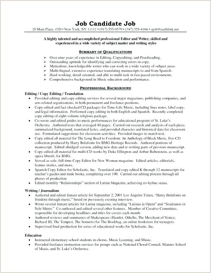 Copy Editor Resume Resume Template Editor