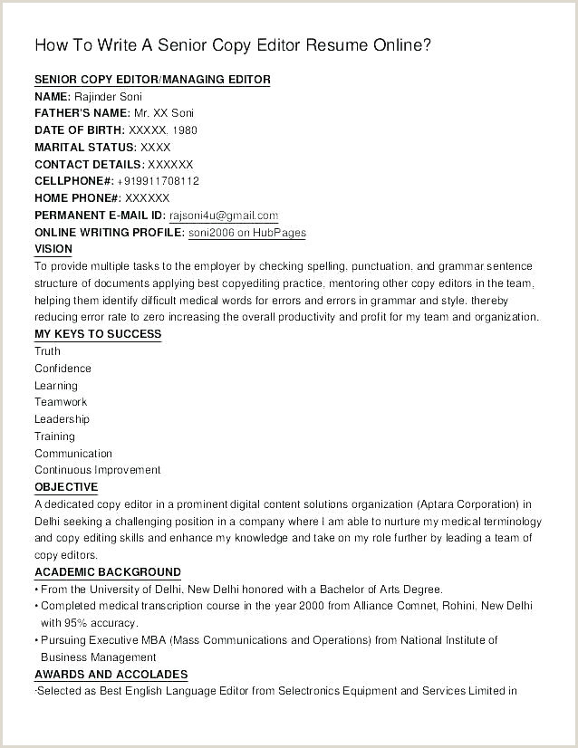 copy of a resume format – thrifdecorblog