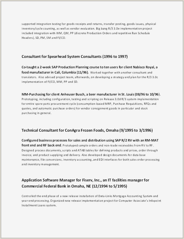 Resumes for Experienced Professionals Examples Cover Letter