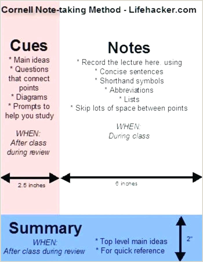 Cornell Note Template Google Docs Note Taking Template Cornell form format System – Nenne