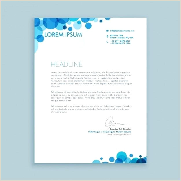 Corporate Letterhead Examples Business Letter with Blue Circles Free Letterhead Design