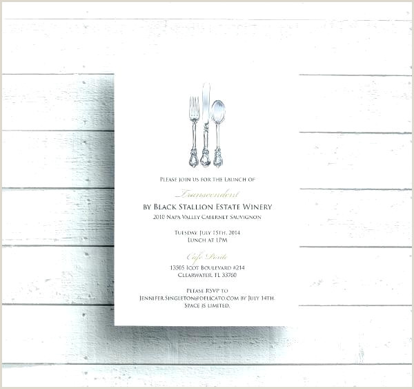 Business Dinner Party Invitation Wording Invite Email