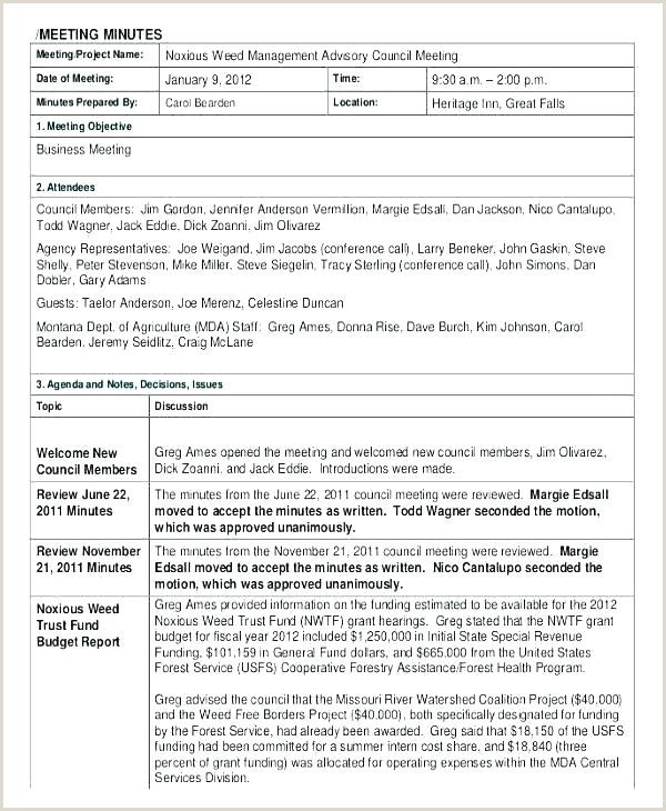 Sample Meeting Minutes Template Google Docs Apple Pages Word