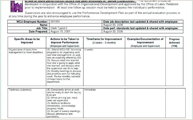 Disciplinary Action Plan Template Disciplinary Action Plan