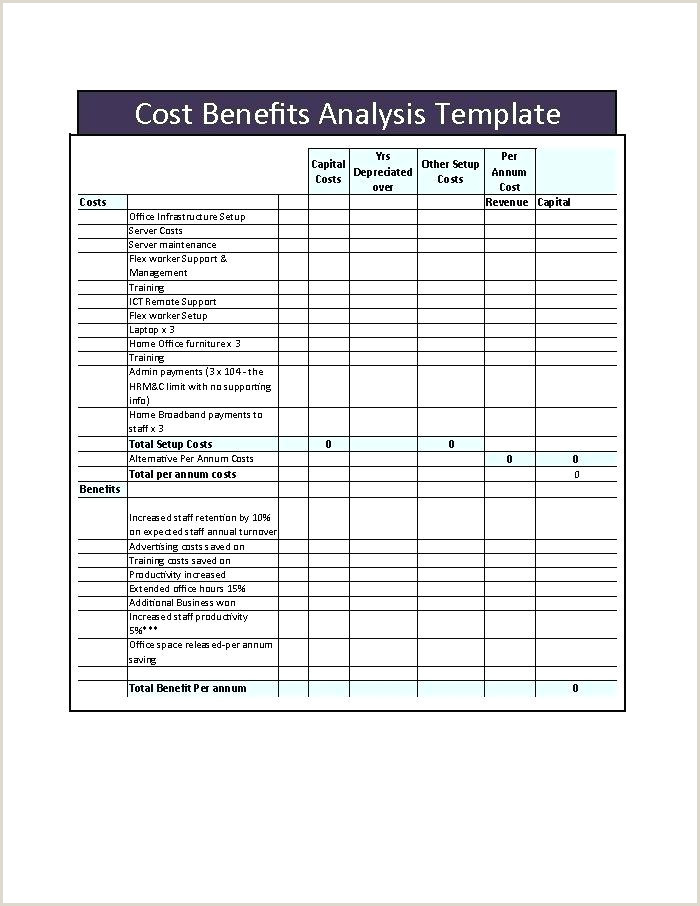 simple cost benefit analysis template