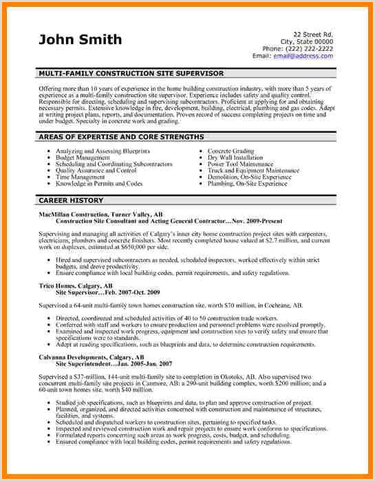 63 foreman Resume Sample