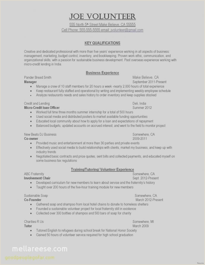 Counselor Resume Samples Volunteer Quotes Inspirational Camp Counselor Resume From