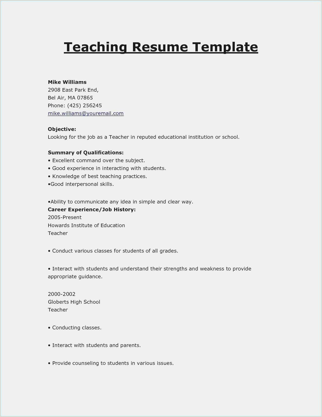 Counselor Resume Template Free Collection 60 Resume Templats Example