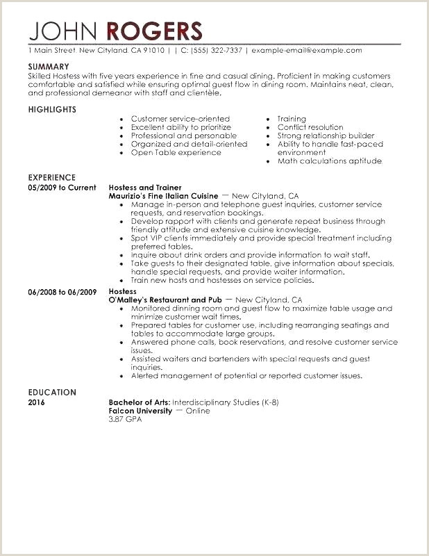 Cover Letter Food Service Food Service Resume Beautiful Fast Food Job Description for