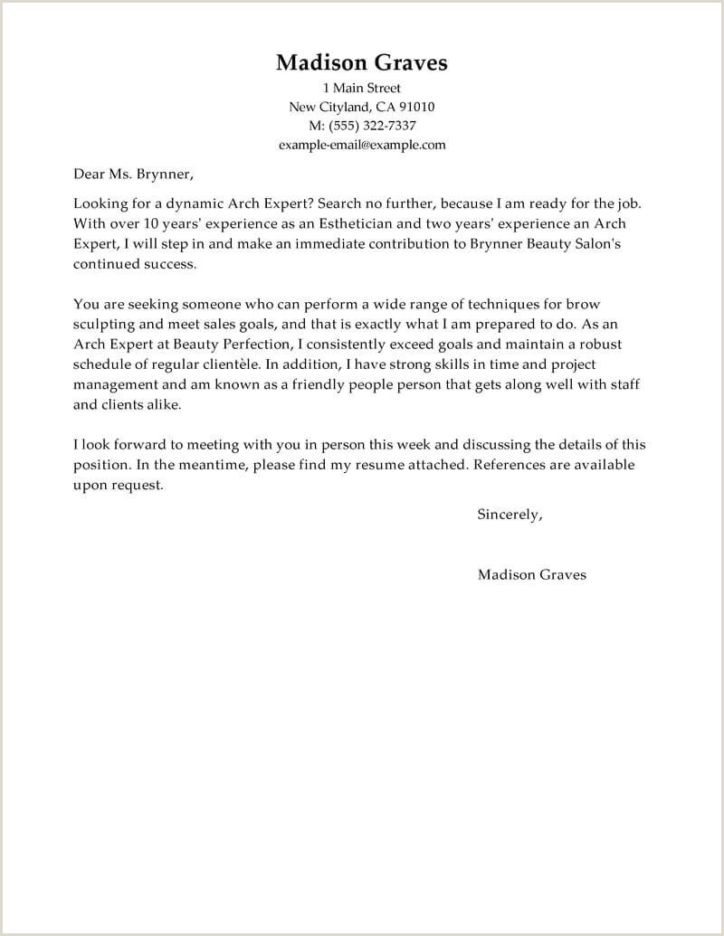 Beauty Therapist Cover Letter Resume Fresh Massage No