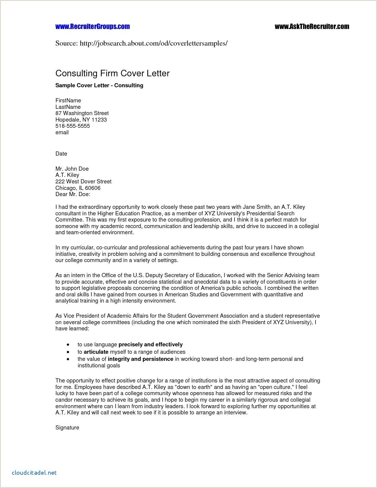 Cover Letter for Cosmetology Student Cover Letter Template Higher Education