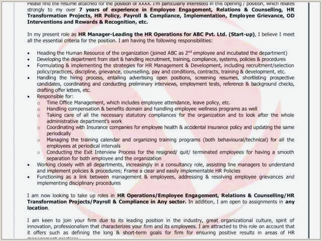 Cover Letter for Hr Position Free Best Human Resources Cover