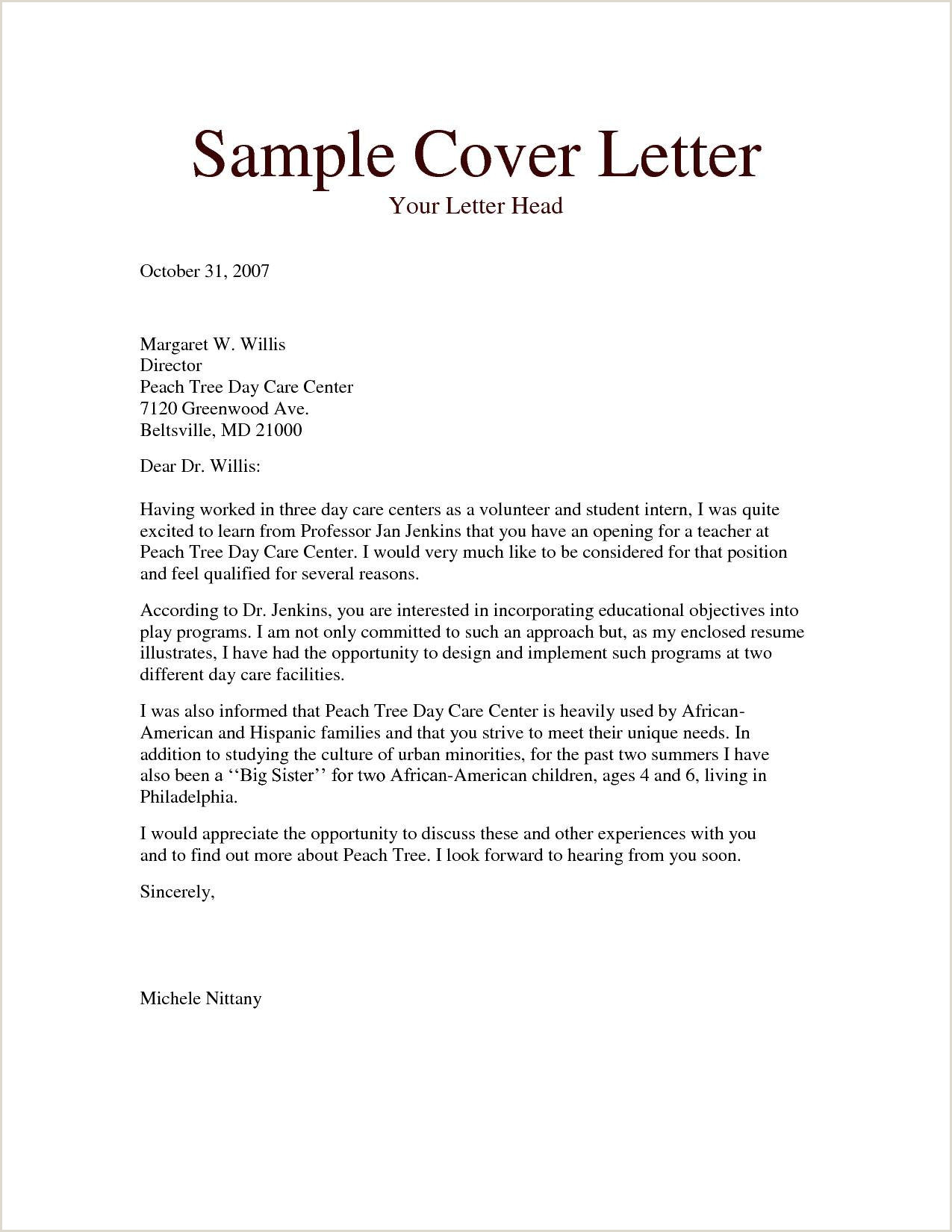 Sample Resume Cover Letter Professional Cover Letter