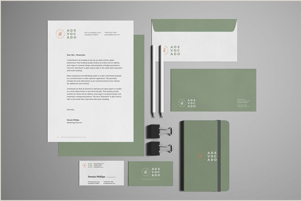 Creative Letterhead Design Psd Free Download 36 Awesome Stationery Mockups for Professional Branding