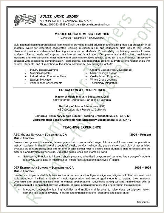 Fresh Secondary School Teacher Resume