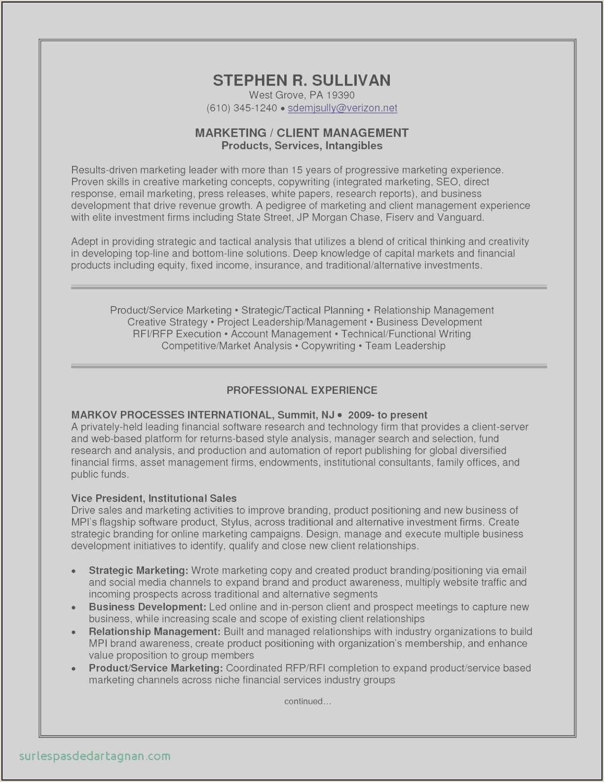 White Paper Marketing Luxury Resume Sample Summary Fresh