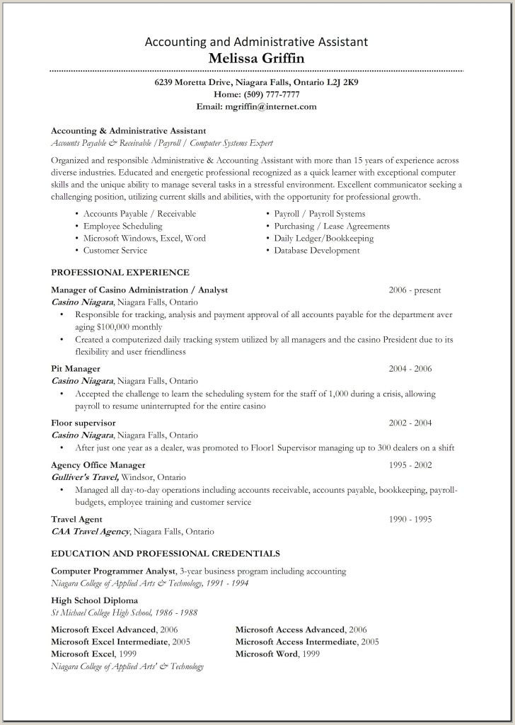Credentials On Resume Excel Skills Resume Examples Professional Skills Resume