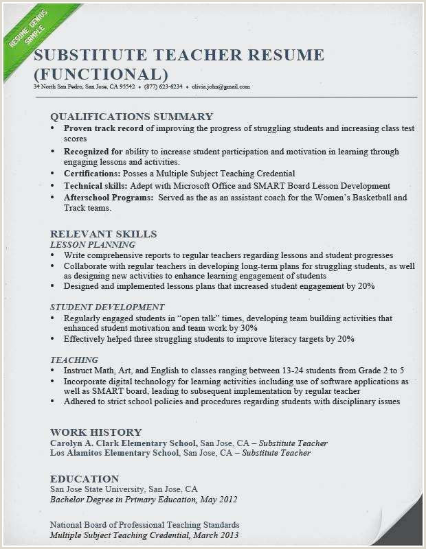 Credentials On Resume Free Teacher Resume Template – Salumguilher