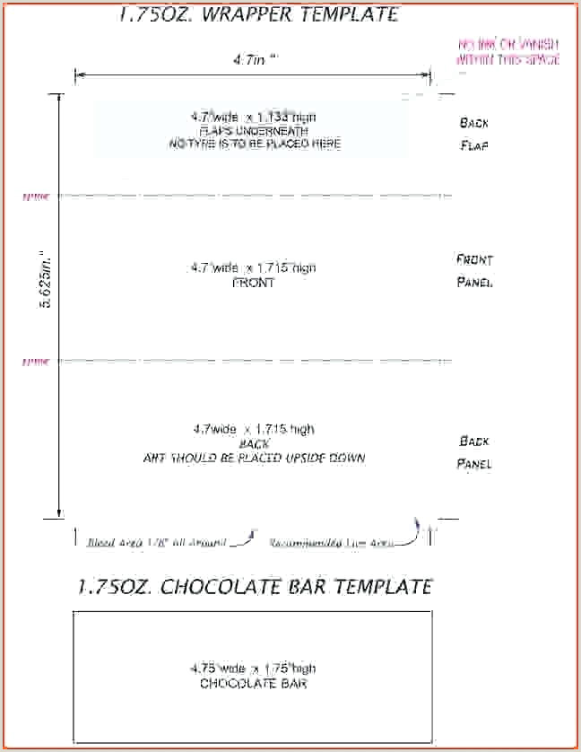 Candy Bar Wrapper Template Size Templatemo Header Wrapper