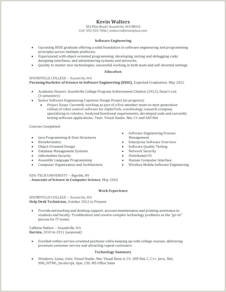 Cs Fresher Cv format Resume Puter Science Cs Template Free Templates