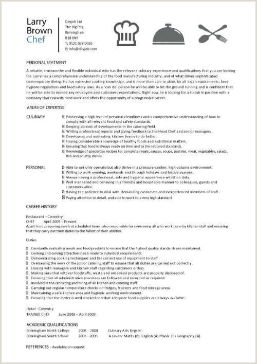 Academic Resume Sample Luxury Culinary Arts Resume Template