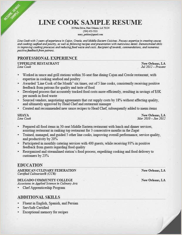 Culinary Arts Resume Template ¢Ëœ 38 Sample Controller Resume