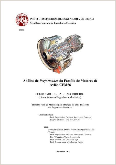 Análise de Performance da Famlia de Motores de Avi£o CFM56