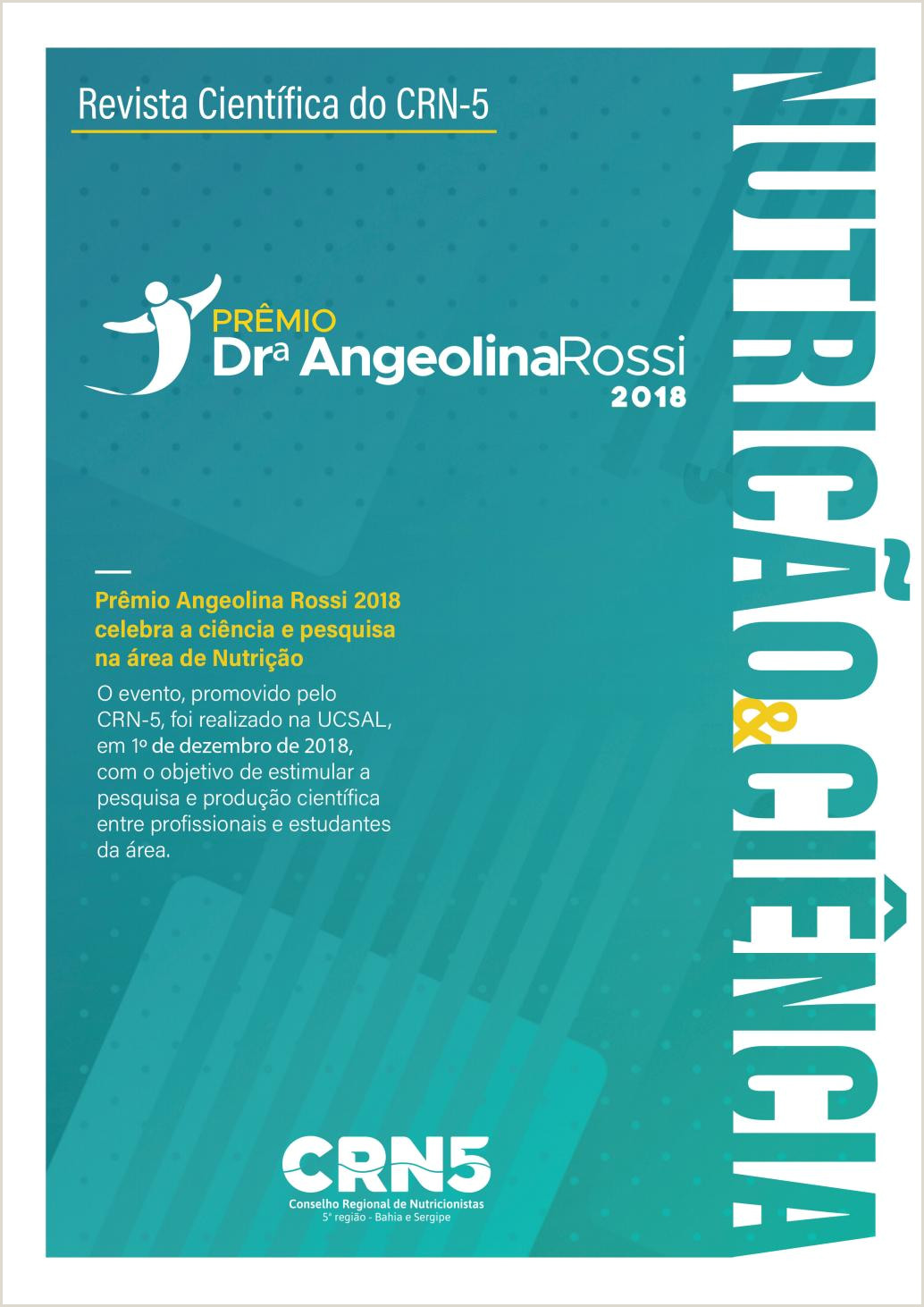 Curriculo Amostra Simples Revista Prªmio Angeolina Rossi 2018 by Crn 5 Conselho