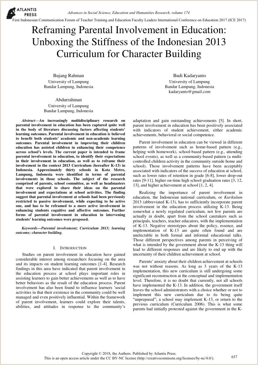 Curriculo Bem Simples Pdf Reframing Parental Involvement In Education Unboxing