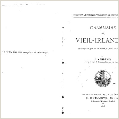 VIEIL IRLANDAIS