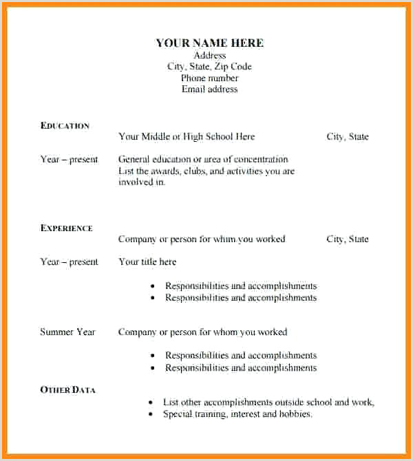 Curriculo Pronto Simples Baixar Ficial Resume format Download Cv Template Pdf Examples