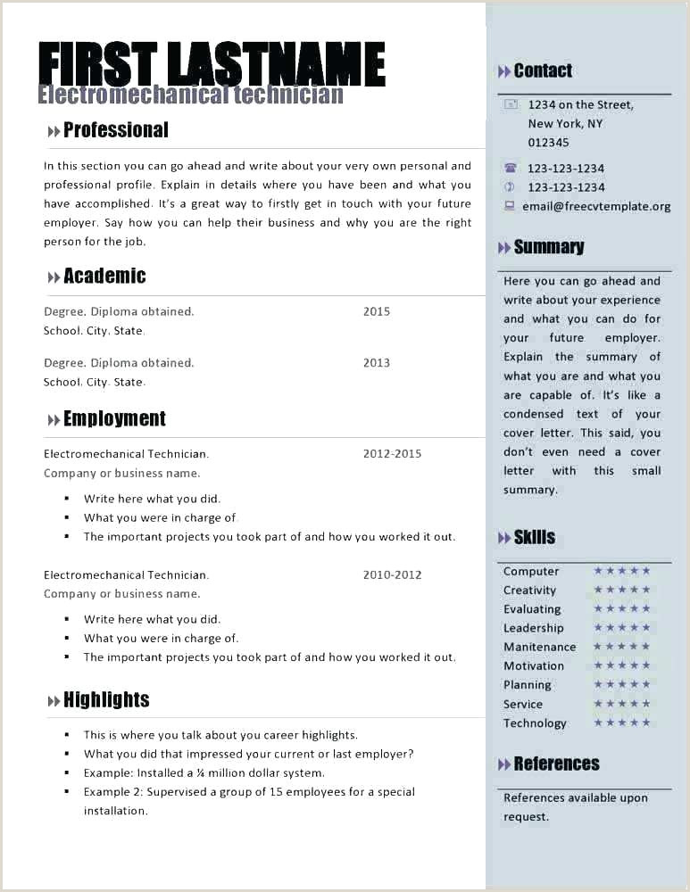 Curriculo Pronto Word Simples Download Academic Curriculum Vitae Template and Resume Difference