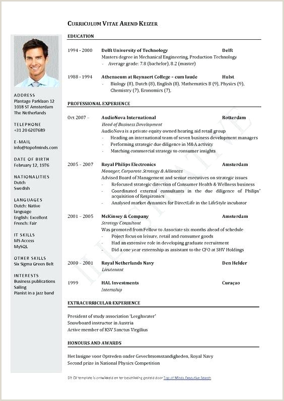 Curriculo Pronto Word Simples Download Template Word Curriculum Vitae Sample for Students