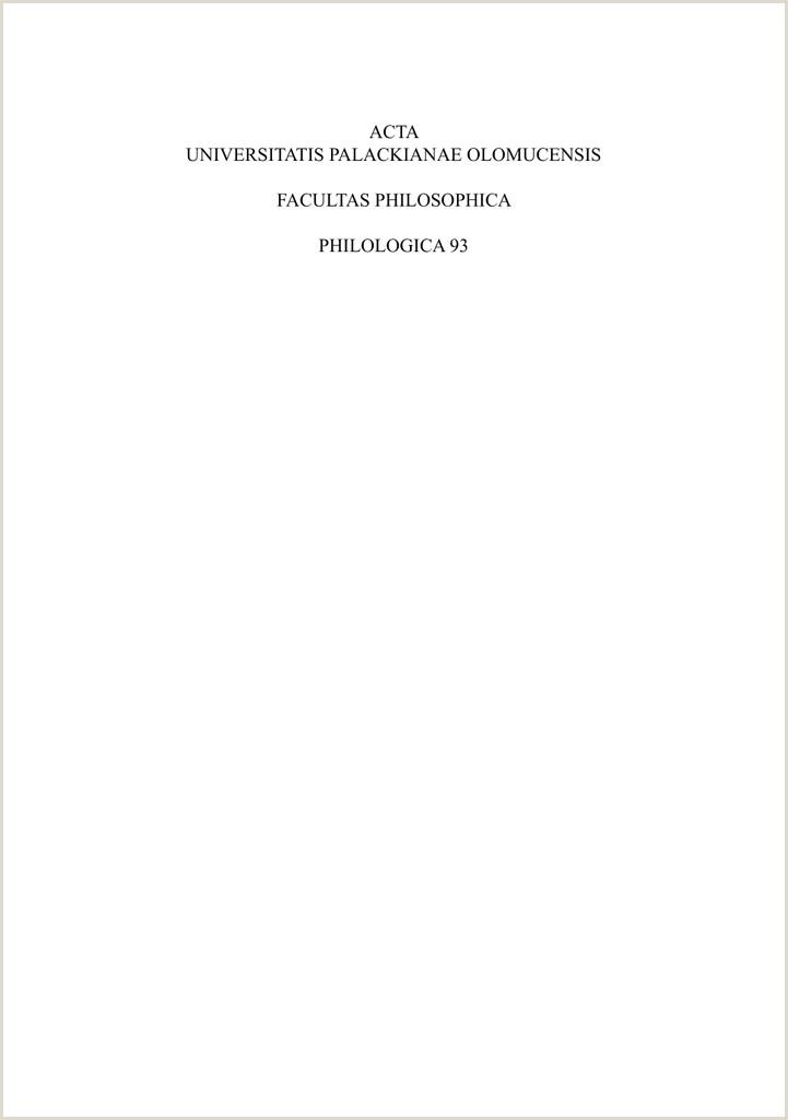 Curriculo Pronto Word Simples Primeiro Emprego Acta Universitatis Palackianae Olomucensis Facultas
