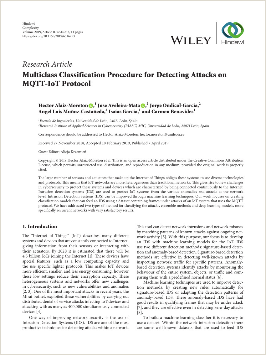 PDF Multiclass Classification Procedure for Detecting