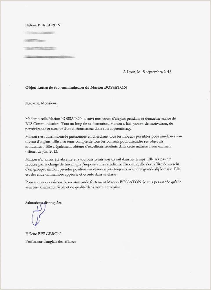 letter officielle pour le consulat