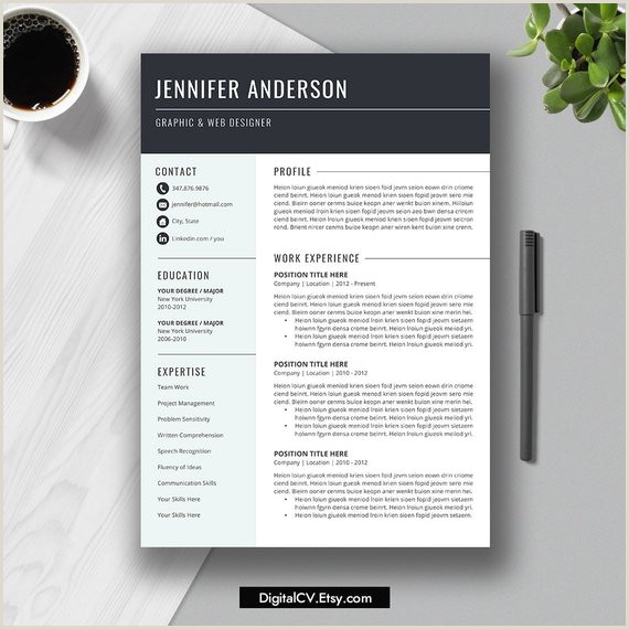 2019 Resume Template Professional & Simple Resume 2 Page