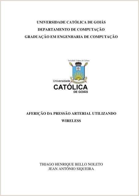 """Curriculo Simples E Direto Universidade Cat""""lica De Gois"""