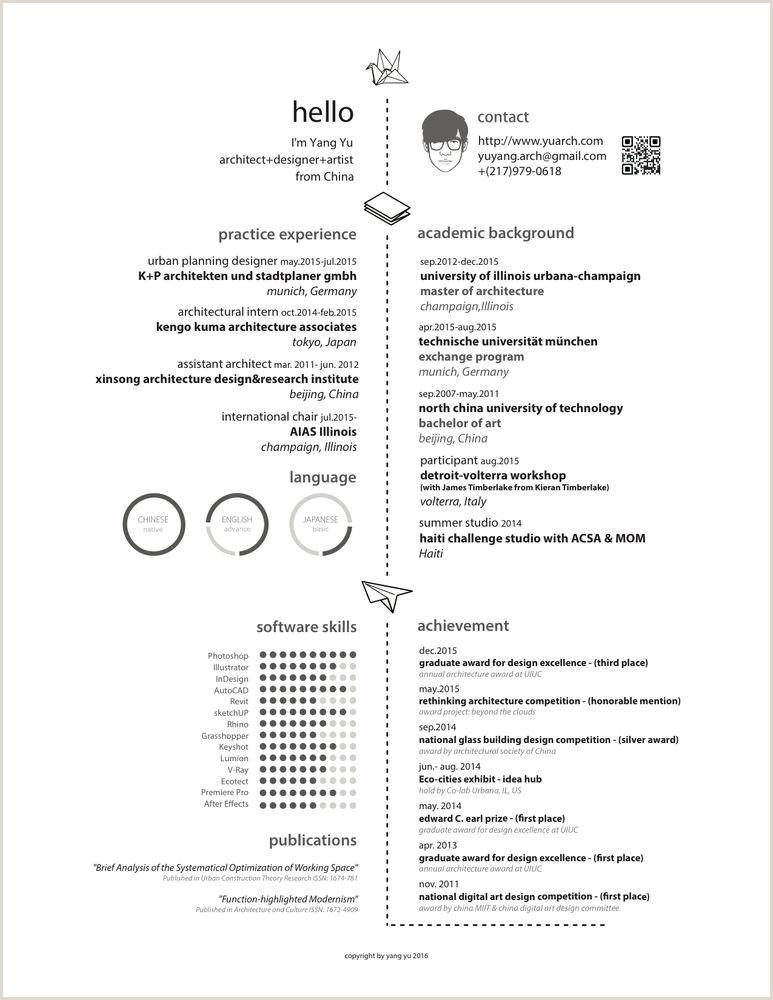 100 unique examples of architecture resume design template